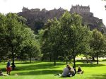 Classic shot of Edinburgh Castle hovering over Princes Gardens. Nothing quite like it.