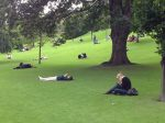 "I guess Princes Gardens has become the official ""mobile zone"" for Edinburgh:)"