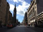 Edinburgh's Royal Mile on a Sunday afternoon.