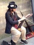 This guy played the musical saw very very well. Liked his hat too.