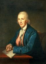 David Rittenhouse, who served as president of the American Philosophical Society until 1796.