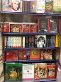 Loved this book display at Kochi Airport which basically has multiple editions of the Kama Sutra, punctuated by biographies of Steve Jobs and Mahatma Gandhi. Sort of sums up modern India:)