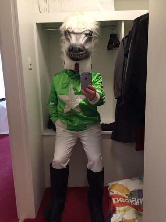 Here I am in my full Fasnacht costume, provided by friends at the LUCERNE FESTIVAL. About to go out and explore now:) — at Romantik Hotel Wilden Mann