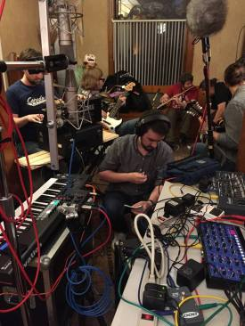 We had a wild recording session with 20 young musicians in project manager Chad Rochkind's living room. From cello to electric guitar to synths to winds and more, beautiful Detroit music was made that I'll weave into SYMPHONY IN D (http://www.dso.org/symphonyind).