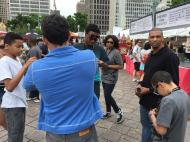 With Morris Porter and the YouthVille kids at Detroit's Movement Festival.