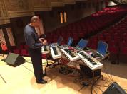 Wonderful composer, producer and mentor Morris Porter tests the sample setup for his students from YouthVille.