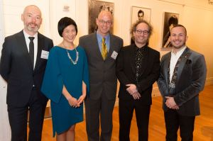 Co-honorees at last evening's Musical America award ceremony at Carnegie Hall. From left, Mark Padmore, Jennifer Koh, Gil Rose, Tod Machover and Yannick Nézet-Séguin.